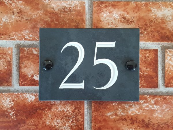 slate house number plaque
