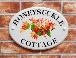 honeysuckle cottage house sign